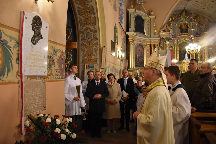 Bp Piotr Libera poświęcił epitafium upamiętniające kard. Aleksandra Kakowskiego