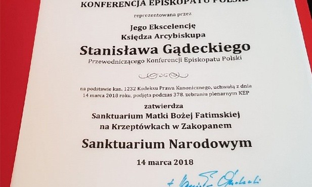 Znalezione obrazy dla zapytania nowe sanktuarium narodowe