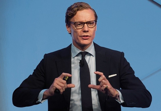 Prezes Cambridge Analytica Alexander Nix.